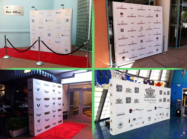 Step And Repeat Miami Banner Printing Backwall